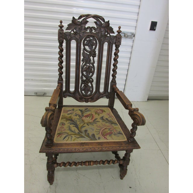 Pleasant Jacobean Revival Throne Chair Beutiful Home Inspiration Ommitmahrainfo