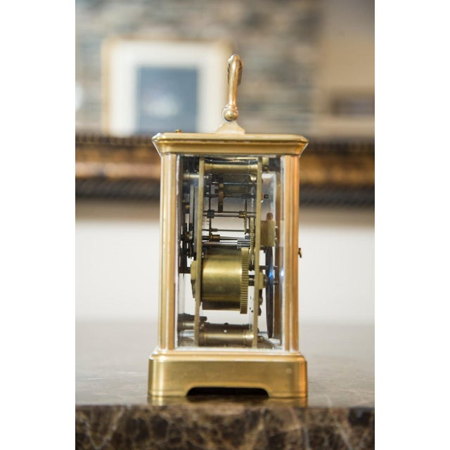Renard Roitel French Brass Carriage Clock For Sale In Atlanta - Image 6 of 7