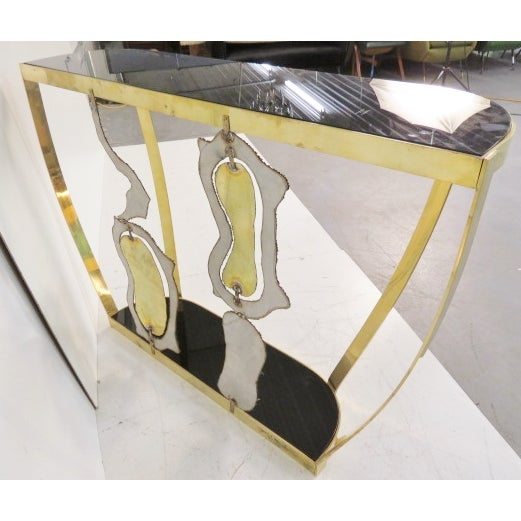 Italian Modern Sculptural Console Tables - Pair - Image 7 of 7