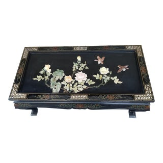 20th Century Chinese Black Lacquer Coffee Table For Sale