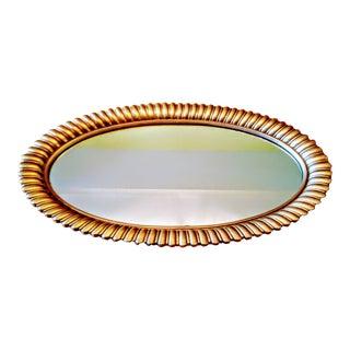 Mid 20th Century Hollywood Recency Gilt Sunflower Petal Mirror For Sale