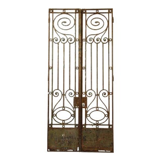 19th C. Wrought Iron Town House Gates - A Pair