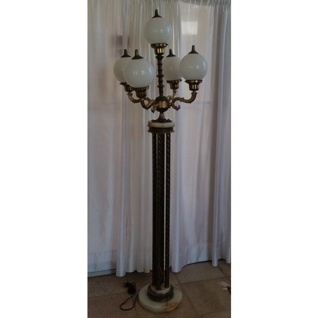 Mid-Century Saloon Bar Globe Floor Lamp - Image 2 of 11