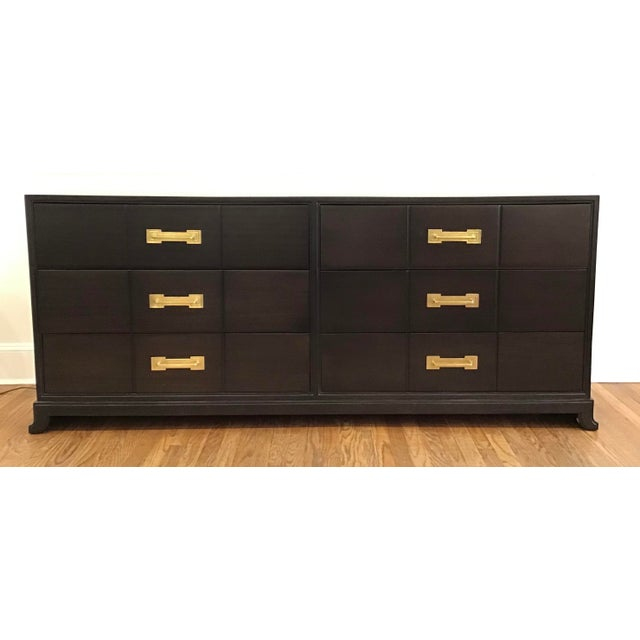 1950's Mid Century Tommi Parzinger for Charak Ebonized Chest of Drawers For Sale - Image 13 of 13