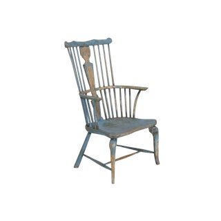 18th Century English 'Thames Valley' Painted Armchair For Sale
