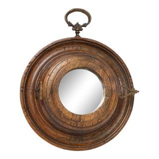 Round Italian Vintage Mirror For Sale