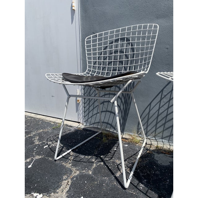 Mid 20th Century Vintage Mid Century Modern Dining Chairs by Harry Bertoia for Knoll - Set of 4 For Sale - Image 5 of 13