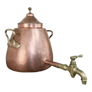 19th Century Copper & Bronze Beverage Server For Sale