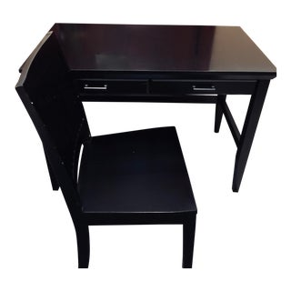 Crate & Barrel Home Office Desk & Chair For Sale