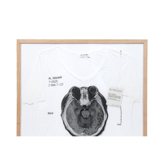 Street Art Contemporary Abstract Limited Edition Framed T Shirts by Ai Weiwei - a Pair For Sale - Image 3 of 13