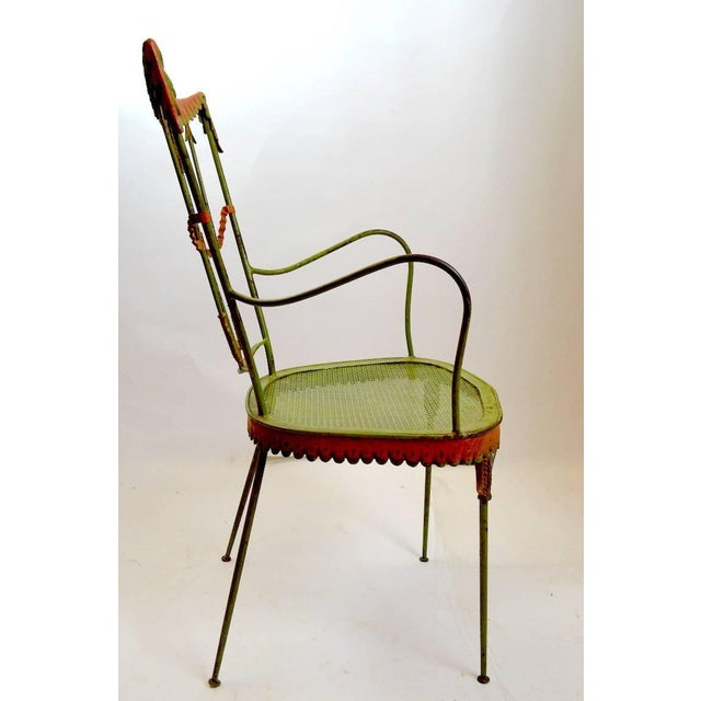 Tomaso Buzzi Pair of Tomaso Buzzi Wrought Iron Armchairs For Sale - Image 4 of 10