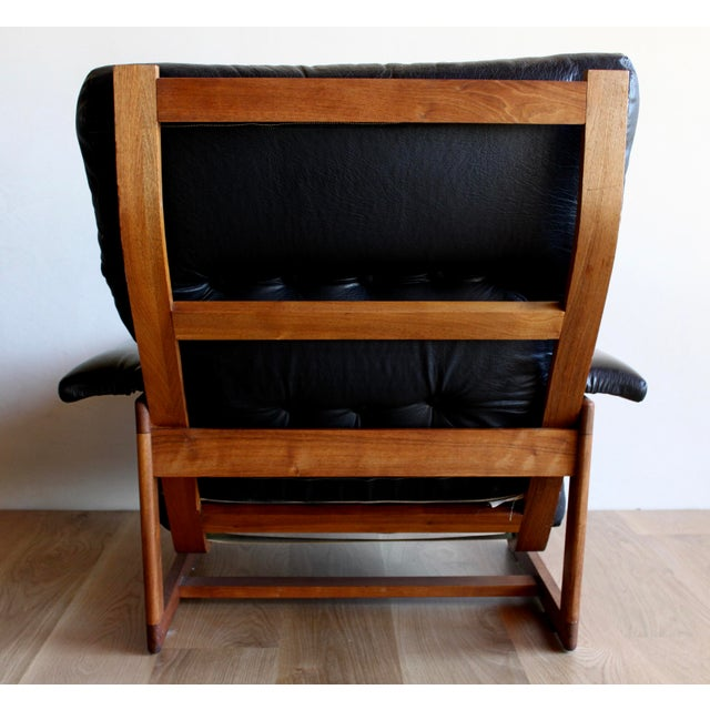 Swedish Mid Century Lennart Bender for Ulferts Mobelfabrik Walnut Bentwood Lounge Chair and Ottoman Danish Style - a Pair For Sale In San Diego - Image 6 of 9