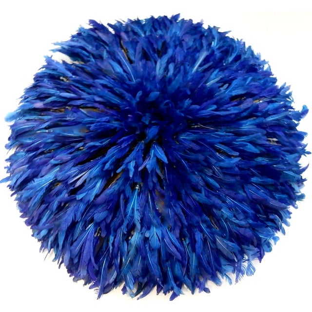 Juju Hat Cobalt Blue African Wall Hanging - Image 1 of 6