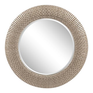 Bergman Silver Round Mirror from Kenneth Ludwig Chicago For Sale