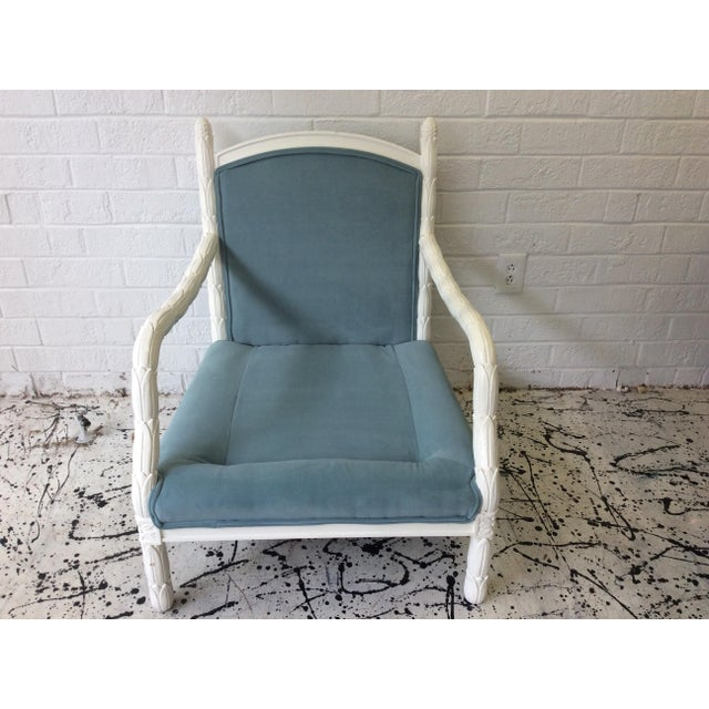 Lacquered Faux-Bios Fauteuils - A Pair - Image 4 of 7