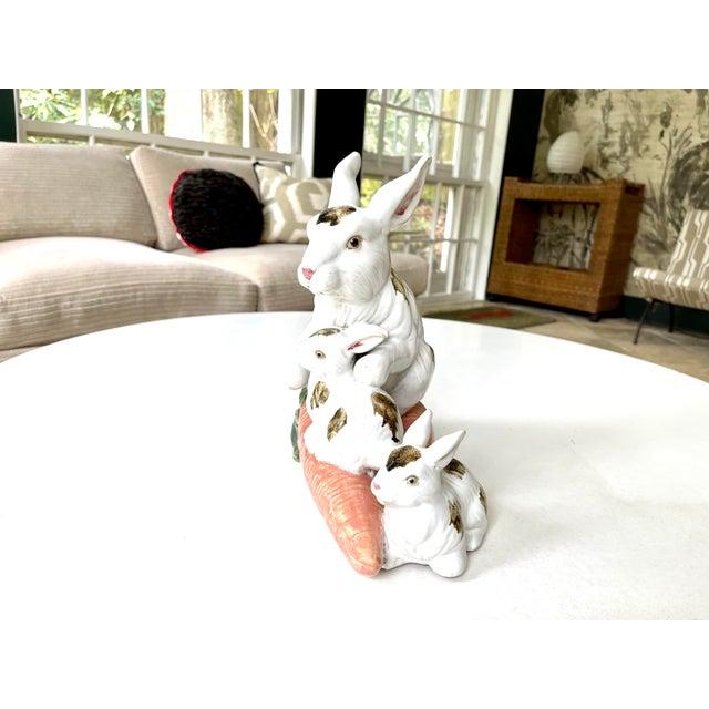 Vintage Provencal Ceramic Bunny Statue For Sale - Image 4 of 13