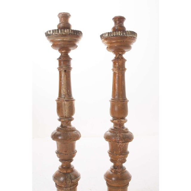 French 19th Century Gold Gilt Altar Torcheres - a Pair For Sale In Baton Rouge - Image 6 of 8