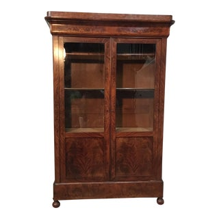 French Louis Philippe Bookcase For Sale