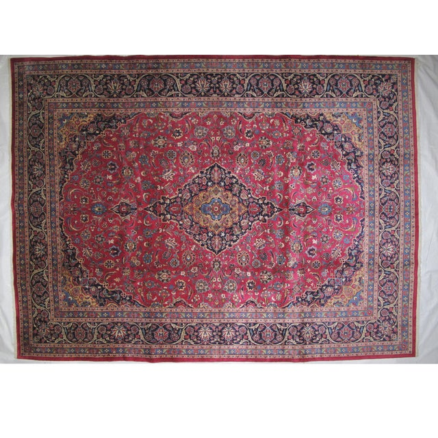 "Leon Banilivi Persian Mashad Carpet - 9'10"" X 13'2"" - Image 2 of 6"