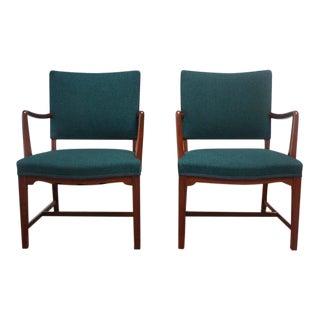 Pair of Danish Modern Sculptural Teak Armchairs For Sale