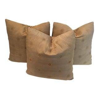 Handmade Silk Pillows - Set of 3 For Sale