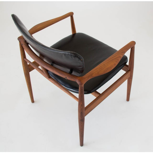 Mid-Century Modern Finn Juhl for Baker Furniture Model 48 Chair For Sale - Image 3 of 9