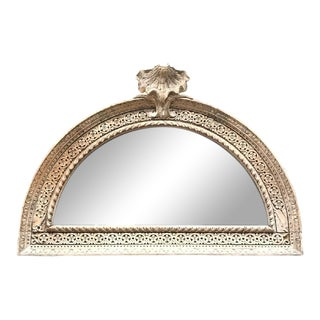 Late 19th Century Continental Carved & Bleached Mirror For Sale