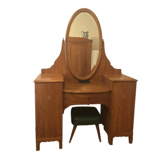Early 20th Danish Vanity Dressing Table For Sale