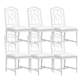 Bungalow 5 Chloe White Wood Upholstered Dining Side Chairs – Set of 6