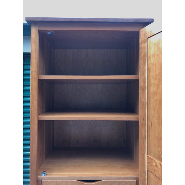 American Solid Cherry Armoire Dresser For Sale - Image 3 of 12
