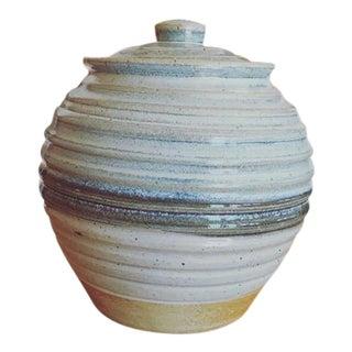 Vintage Lidded Studio Pottery Vessel For Sale