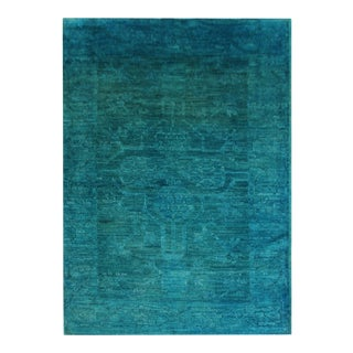"""Hand Knotted Overdyed Oushak Rug - 3'2"""" x 5'11"""" For Sale"""