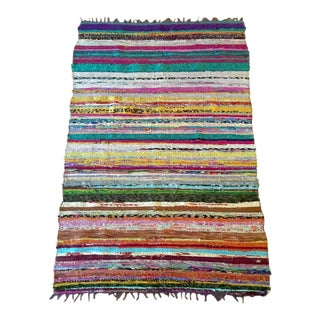 Artisan Textile Art or Rug - 3′2″ × 5′9″ For Sale