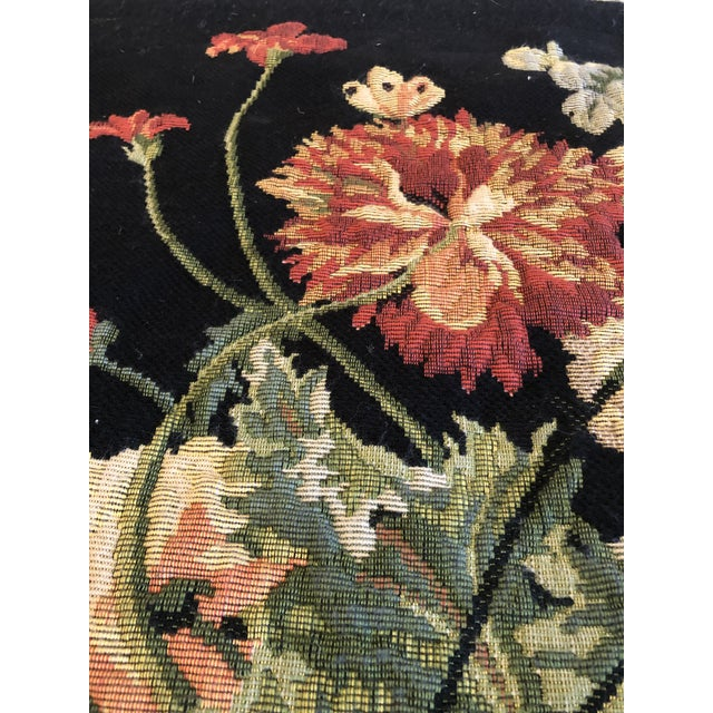 French Large Vintage Hanging French Tapestry Wall Art For Sale - Image 3 of 11