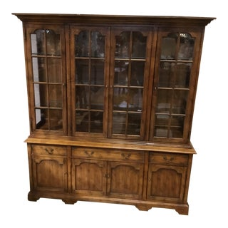 1990s Hickory White China Cabinet For Sale