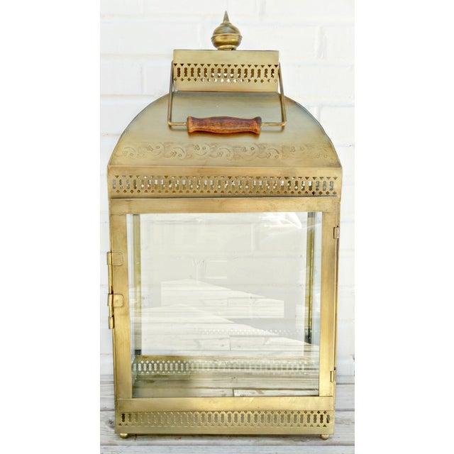Large Brass Lantern - Image 4 of 4