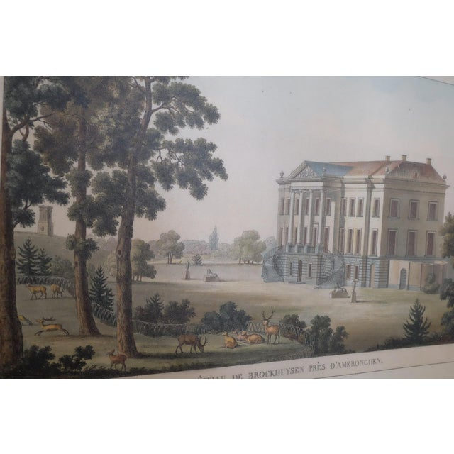 French Architectural Rendering With Resin Frame For Sale - Image 3 of 5
