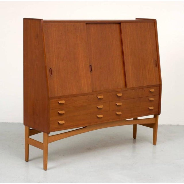Poul Volther Tall Teak Cabinet - Image 4 of 10
