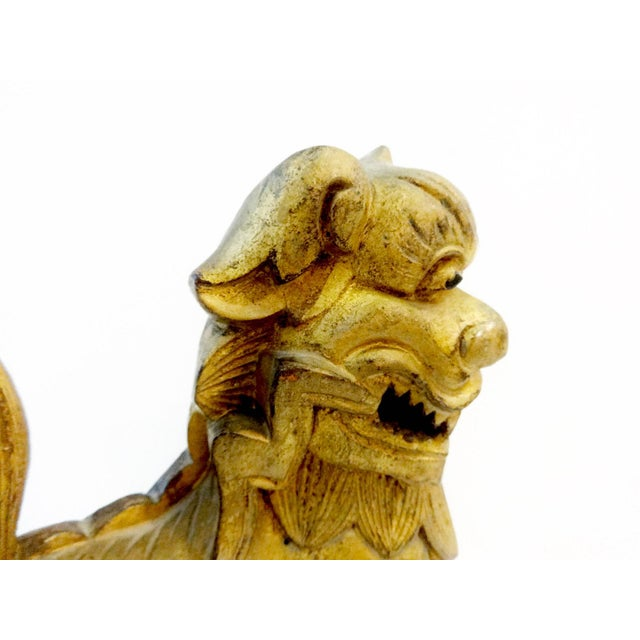 Antique Statue of Temple / Foo Dog For Sale - Image 5 of 9