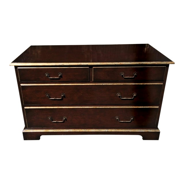 John hall walnut commode chest of drawers chairish