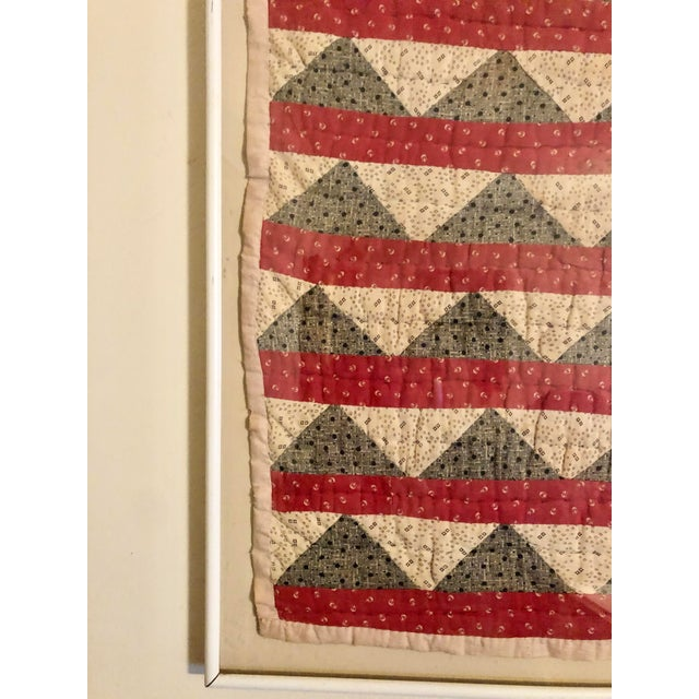 Early 20th Century Framed Doll Quilt For Sale - Image 12 of 13
