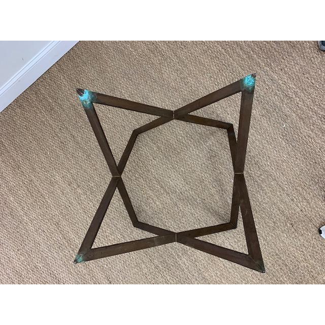 Bronze Mid Century Bronze Interlocking X Table Base For Sale - Image 8 of 12