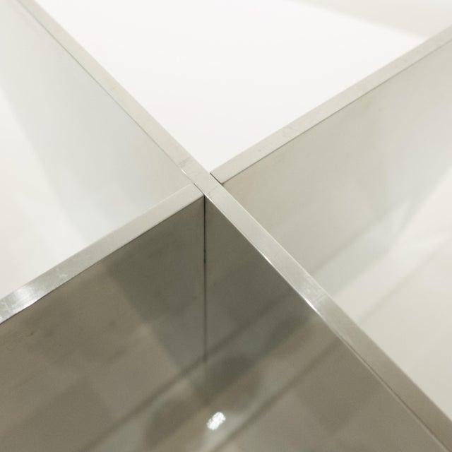 Aluminum Paul Mayen Polished Aluminum Cocktail Table For Sale - Image 7 of 8