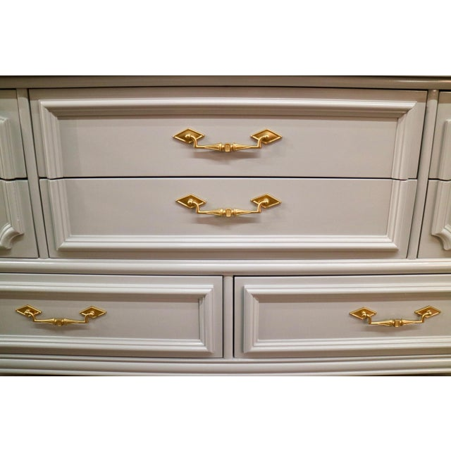 Vintage Grey Custom Lacquered Chest - Image 4 of 7