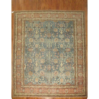 19th Century Denim Blue Tabriz Rug, 9'9'' x 12'7'' Preview
