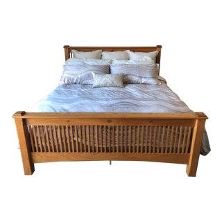 Amish Oak Mission Bed For Sale