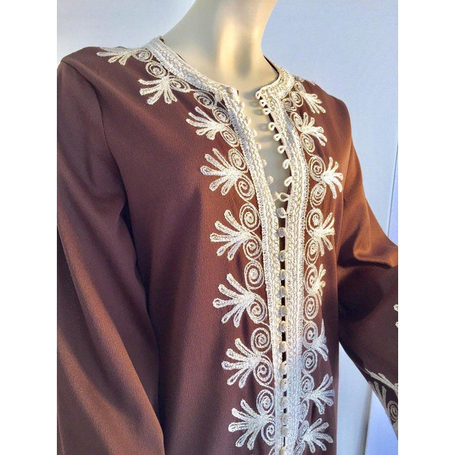 Moroccan Caftan, Maxi Dress Kaftan, 1970 Size Small For Sale - Image 11 of 13