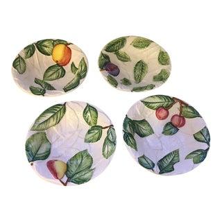 Vintage Italian Majolica Fruit Bowls - Set of 4 For Sale