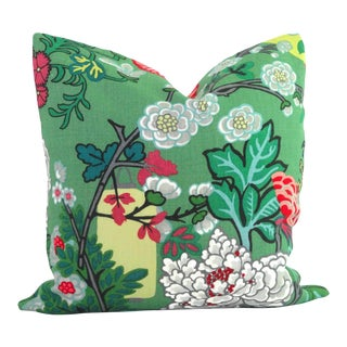 Jade Schumacher Chiang Mai Dragon Pillow Cover For Sale
