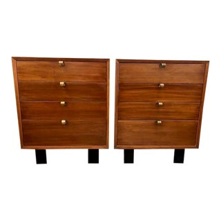 Mid Century Pair of 4 Drawer Chests by George Nelson for Herman Miller For Sale